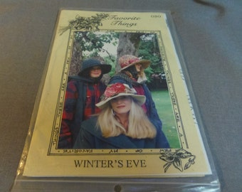 Hat Pattern, 3 sizes (Cloche Hat) Winters Eve, Favorite Things 030, 1995 Hat Size S, M, L,