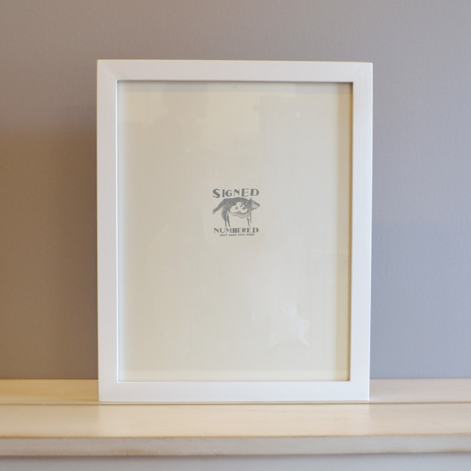 11x14 Picture Frame in 1x1 Flat Style with Solid White Finish - Can ...