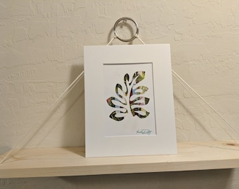 Tropical Leaf 2 Recycled Magazine Wall Art