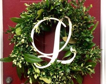 Wooden Monogram Initials, Monogram Door Hanger, Monogram Door Wreath, Wall Hanging Letters,Wooden Initials,Wooden Letters for Wedding Wreath