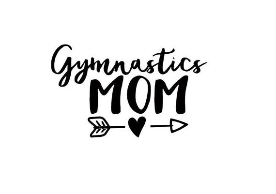 Gymnastics mom decal gymnastics mom sticker window decal car decal laptop decal window sticker custom decal from angelcakesetc2 on etsy studio