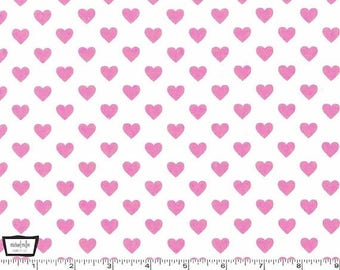 Hearts All Over - Blossom - Cotton Print Fabric from Michael Miller