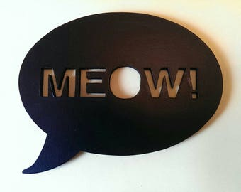 Meow speech bubble, Silhouette