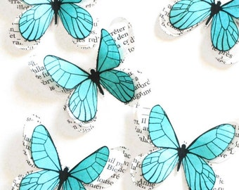 Blue wedding decor, baby shower decorations, birthday party decorations girl, butterfly art for nursery, blue party decorations