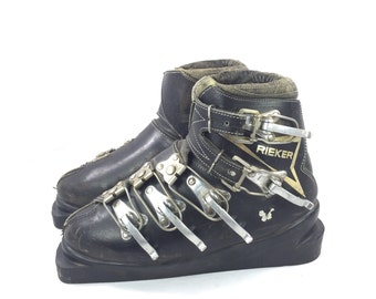 Ski Boots Rieker Leather Vintage 1960's German
