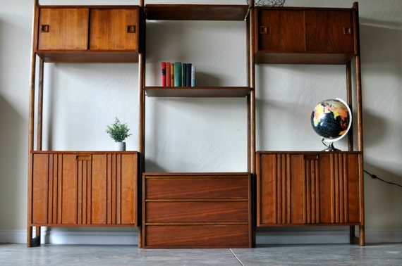 sold mid century danish modern modular wall unit by ellolarge mid century room dividercado style wall shelving systemroom divider