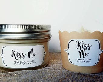 Valentine's Day | 4 Ounce Soy Candle | Wax Melts