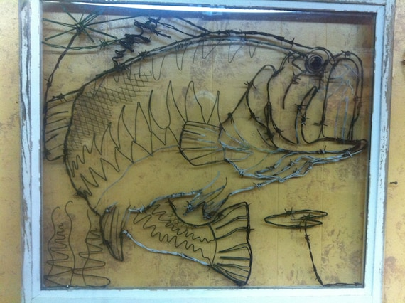 Bass Fisch Fisch Draht Fisch Fisch Skulptur