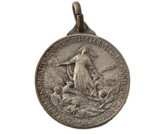 Our Lady Virgin Mary Assumption Medal By Aurelio Mistruzzi - Pope Pie XII - Authentic Italian Religious Medal Pendant Charm - Religious Gift