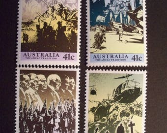 Australia Postage Stamp 1990** World War II* Complete Set* Scott #1174-77*MNH