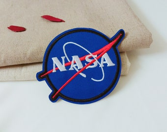 NASA badge -iron on patch -embroidered patch -patch for jacket -diy-applique