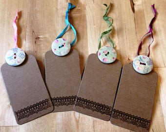 Gift tags set of 4: cup cakes and baking