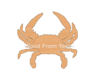 """Crab Cutout * Wood Shapes * Ornaments * DIY * Craft Supplies  * Size 6"""" to 48""""* .Material Size .25"""" * Painted or Not * 10-008"""