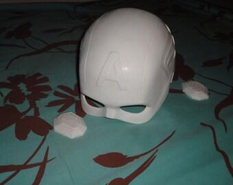 Prop helmet 1:1 resin Captain America The Avengers Kit !!!