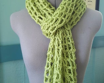 Green Lightweight Net Lace Scarf