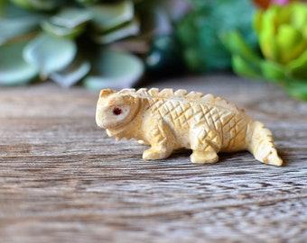 Iguana Figurine Carved Stone