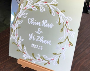 Decorative Wedding Mirror - Customisable Quote