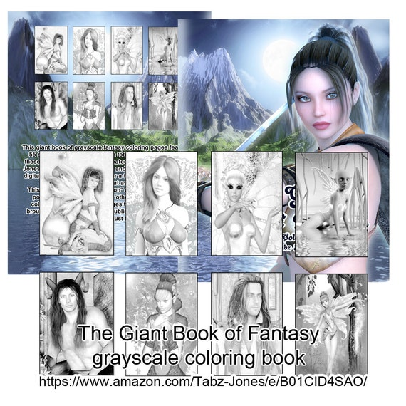 The GIANT Book Of Fantasy Greyscale Coloring PDF Download