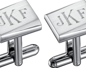 Cufflinks Personalized, Groomsmen Cufflinks, Engraved Cuff Links, Groom Cufflinks, Wedding Cufflinks, Personalized CuffLinks - VCUFF608