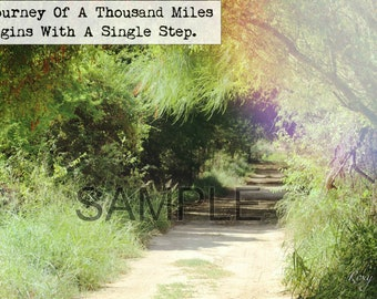 A Journey Of A Thousand Miles Inspirational Frame