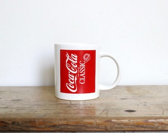 Vintage Coca Cola Coffee Mug Right Handed Left Handed Coke Classic Original Formula Two Sided