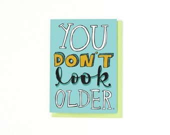 Funny Birthday Card - Happy Birthday - Greeting Card - 5x7 - Blank Inside Card