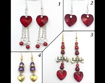 Earrings 'love '.