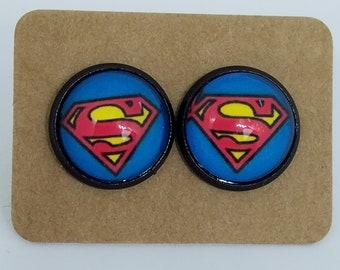 Superman Earrings
