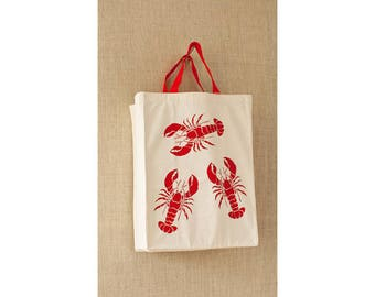 Lobster, Canvas Bag, Free Shipping, Reusable Grocery Bag, Eco Friendly Bag, Cheap Bag