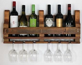 Wine Rack - Rustic Wine Rack - Wine Rack Wall Mounted - Wooden Wine Rack - Wine Rack Wood - Wine Storage - Rustic Home Decor - Wine