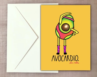 Avocardio - Avocado Greeting Card