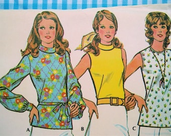 McCall Vintage 1973 modèle 3550 couture Miss taille 12