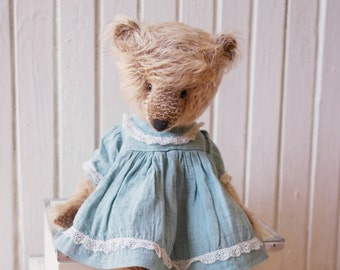 Artist Teddy Bear Pat - bear toy, stuffed animal, mohair teddy bear, ooak bear, artist teddy bear, stuffed bear