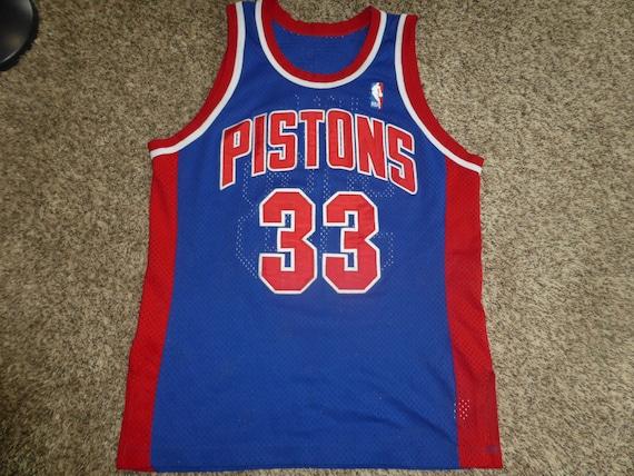 Vtg RARE Dennis Rodman Detroit Pistons NBA Champion Jersey Sz Men's 40 M fS4jt7Ae