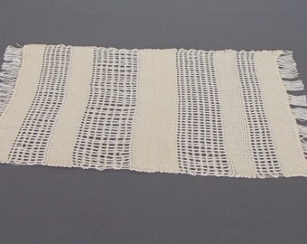 Handwoven lace table mat for centerpieces or candles