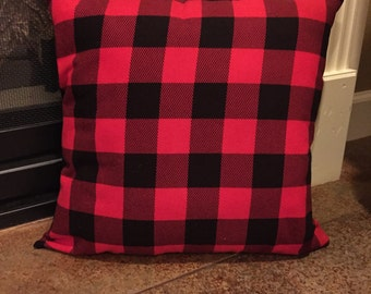 Blank Buffalo Plaid Pillow Cover, Buffalo Plaid Pillow Cover, Blank Pillow Cover, Plaid Pillow Cover, Envelope Pillow Cover, 16x16, 18x18