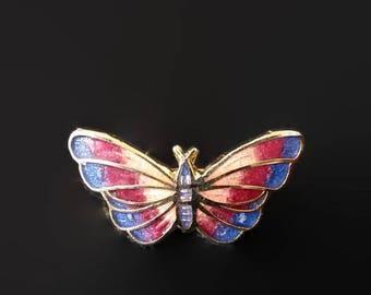 Vintage Colorful Enamel Butterfly Brooch Pin, Butterfly Jewelry, Estate Jewelry Find, 1980's Brooch Jewlery, Enamel Brooch, Lapel brooch
