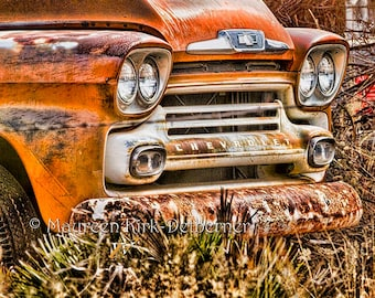 1950s Chevy truck Chevrolet trucks old truck photo photograph photography print rustic decor rustic wall art gift