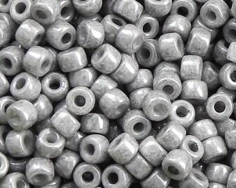 Size 6/0 Matubo Chalk Jet Seed Beads - 16 grams - Chalk Jet 6/0 Seed Beads - 1762