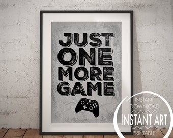 XBOX Controller Print - Just one more Game - xbox - xbox poster - xbox print - teenage boy - room decor - video game poster - gift for teen