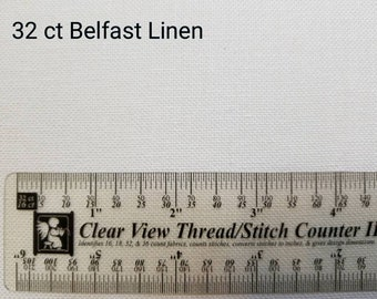 WHITE - Belfast Linen - 32 Count / Cross Stitch Fabric / Zweigart / Premium Quality for Needlework Projects / 100% Linen