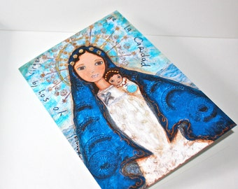 Our Lady of Charity - Caridad del Cobre - Greeting Card 5 x 7 inches - Folk Art By FLOR LARIOS