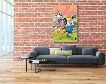Finn and Jake, Adventure Time canvas, Finn and Jake print, Finn and Jake canvas, Adventure Time print, Adventure Time, Adventure Time Art
