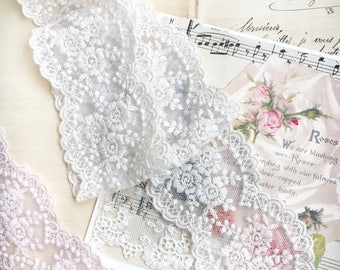 cotton vintage style lace. narrow vintage lace . lace edging. lace for vintage sewing. cotton lace