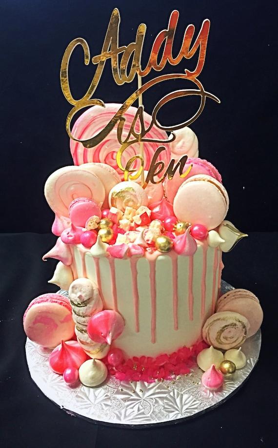 Birthday Cake Toppercustom Name Is Custom Age Birthday Cake