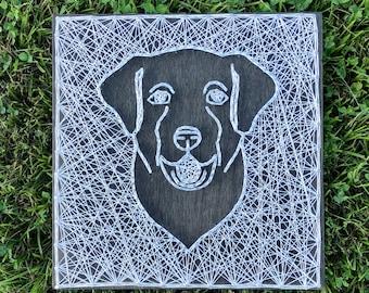 Labrador Retriever Nail & String Art