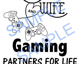 Husband and wife gamer SVG