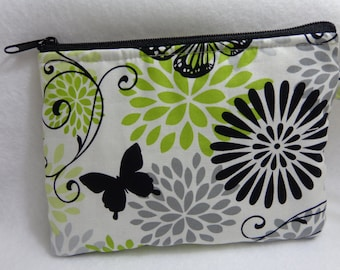 Makeup Bag: Glamour Butterfly Floral