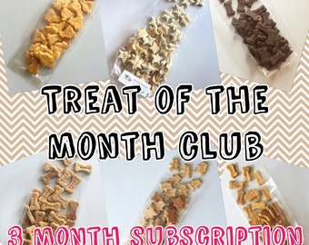 2 Little Bostons Treat of the Month Club - 3 Month Cookie Club Subscription for Dogs - Great Gift Idea - Ships Free Each Month