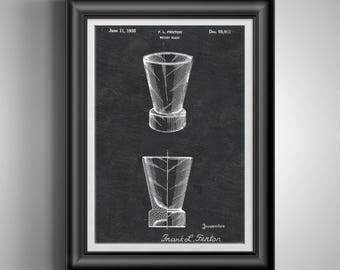Whiskey Scotch Glass * Whiskey Glasses * Tennessee Whiskey Gifts * Whiskey Gift for Him * Whiskey Gift for Dad * Shot Glasses Art PP 10119